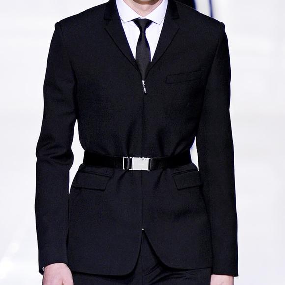 96d41788bf Dior Homme NWT AW13 Runway Zipper Belted Blazer 48